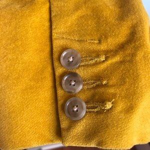 Eddie Bauer Jackets & Coats - Eddie Bauer Golden Yellow Velour Blazer Size 10